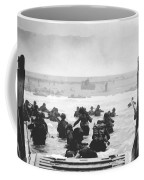 Storming The Beach On D-day  Coffee Mug by War Is Hell Store