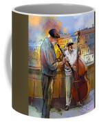 Street Musicians In Prague In The Czech Republic 01 Coffee Mug by Miki De Goodaboom