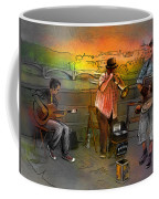 Street Musicians In Prague In The Czech Republic 03 Coffee Mug by Miki De Goodaboom