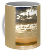 Sun Rays And Clouds Over Santa Cruz Coffee Mug by Rich Reid