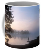 Sunrise Fishing In The Yellowstone River Coffee Mug by Michael S. Lewis