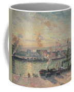 Sunset At Rouen Coffee Mug by Camille Pissarro