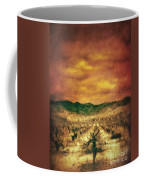 Sunset Over Vineyard Coffee Mug by Jill Battaglia