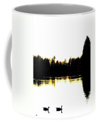 Swan Silhouette Coffee Mug by Will Borden