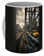 Taxi Crossing Smithfield Street Bridge Pittsburgh Pennsylvania Coffee Mug by Amy Cicconi