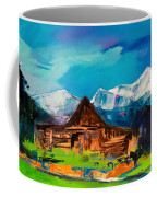 Teton Barn  Coffee Mug by Elise Palmigiani