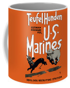 Teufel Hunden - German Nickname For Us Marines Coffee Mug by War Is Hell Store