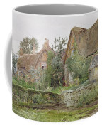 Thatched Cottages And Cottage Gardens Coffee Mug by John Fulleylove