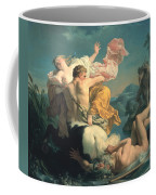 The Abduction Of Deianeira By The Centaur Nessus Coffee Mug by Louis Jean Francois Lagrenee