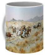 The Attack Coffee Mug by Charles Marion Russell