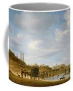 The Beach At Egmond An Zee Coffee Mug by Salomon van Ruysdael