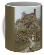 The Black Kitten Coffee Mug by Helen Allingham