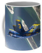 The Blue Angels Perform A Looping Coffee Mug by Stocktrek Images