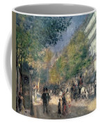 The Boulevards  Coffee Mug by Pierre Auguste Renoir