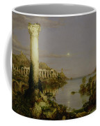 The Course Of Empire - Desolation Coffee Mug by Thomas Cole