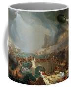 The Course Of Empire - Destruction Coffee Mug by Thomas Cole