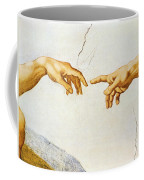 The Creation Of Adam Coffee Mug by Michelangelo Buonarroti
