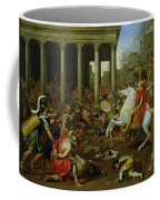 The Destruction Of The Temples In Jerusalem By Titus Coffee Mug by Nicolas Poussin