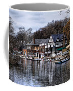 The Docks At Boathouse Row - Philadelphia Coffee Mug by Bill Cannon