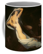 The Figures Of Francesca Da Rimini And Paolo Da Verrucchio Appear To Dante And Virgil Coffee Mug by Ary Scheffer
