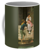 The Fishermans Wooing From The Pears Annual Christmas Coffee Mug by Eugen Von Blaas