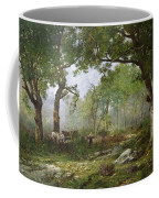 The Forest Of Fontainebleau Coffee Mug by Leon Richet