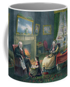 The Four Seasons Of Life  Old Age Coffee Mug by Currier and Ives