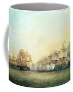 The Fourth Action Off Trincomalee Between The English And The French Coffee Mug by Dominic Serres