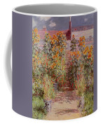 The Garden At Vetheuil Coffee Mug by Claude Monet