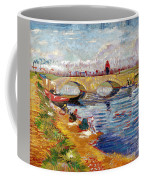 The Gleize Bridge Over The Vigneyret Canal  Coffee Mug by Vincent van Gogh