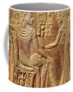 The Golden Shrine Of Tutankhamun Coffee Mug by Egyptian Dynasty