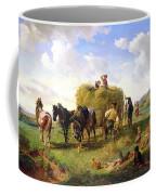 The Hay Harvest Coffee Mug by Hermann Kauffmann