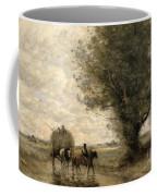 The Haycart Coffee Mug by Jean Baptiste Camille Corot