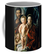 The Holy Family With St. John The Baptist Coffee Mug by Jacob Jordaens