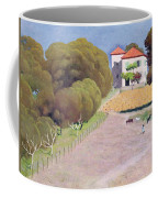 The House With The Red Roof Coffee Mug by Felix Edouard Vallotton