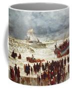The Lifeboat Coffee Mug by William Lionel Wyllie