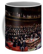 The Lord Chancellor About To Put The Question In The Debate About Home Rule In The House Of Lords Coffee Mug by English School