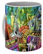The Magical Rooftops Of Prague 02 Coffee Mug by Miki De Goodaboom