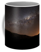The Milky Way Setting Behind The Hills Coffee Mug by Luis Argerich