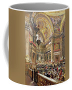 The Miracle Of The Liquefaction Of The Blood Of Saint Januarius Coffee Mug by Giacinto Gigante