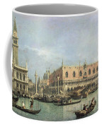 The Molo And The Piazzetta San Marco Coffee Mug by Canaletto