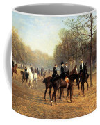 The Morning Ride Rotten Row Hyde Park Coffee Mug by Heywood Hardy