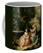 The Music Lesson Coffee Mug by Francois Boucher