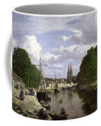 The Port At Quimper Coffee Mug by Eugene Louis Boudin