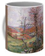 The Puy Barion At Crozant Coffee Mug by Jean Baptiste Armand Guillaumin