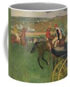 The Race Course Coffee Mug by Edgar Degas