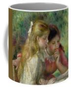 The Reading Coffee Mug by Pierre Auguste Renoir