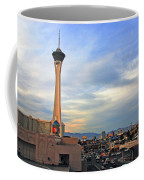 The Stratosphere In Las Vegas Coffee Mug by Susanne Van Hulst