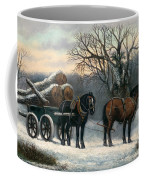 The Timber Wagon In Winter Coffee Mug by Anonymous