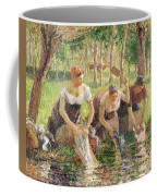 The Washerwomen Coffee Mug by Camille Pissarro